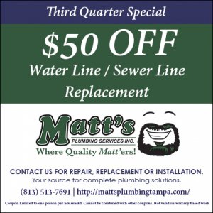$50 Off Water Line or Sewer Line Replacement