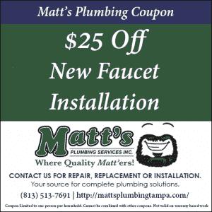 $25 New Faucet (coupon)
