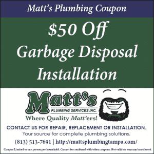 $50 off Garbage Disposal Install (coupon)