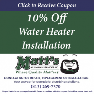 10% off water heater install