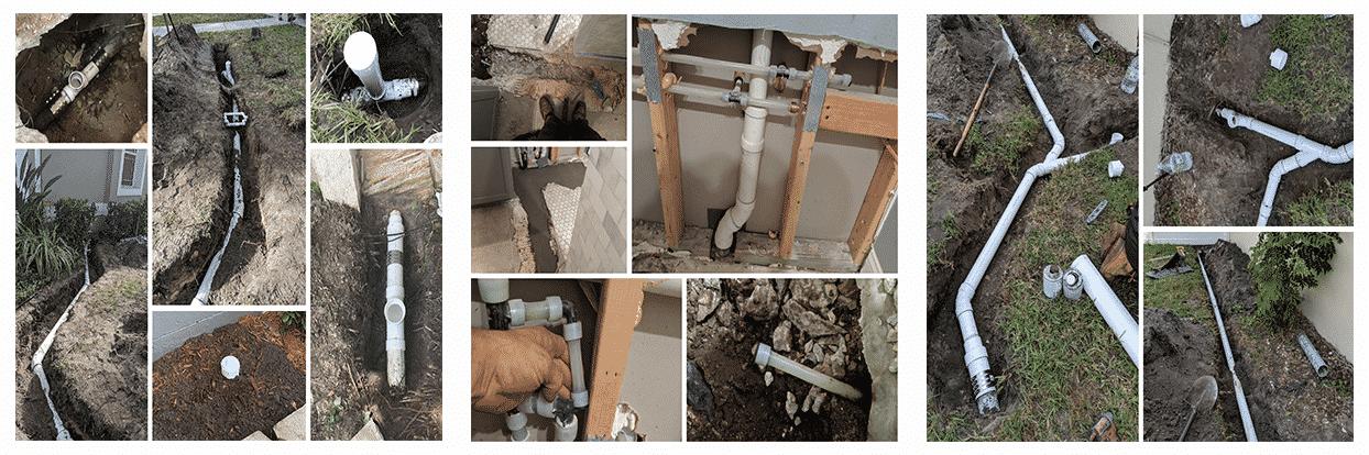 PVC Drain pipe repair in Tampa Bay