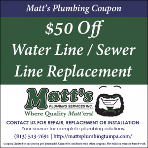 50 off water line replacement